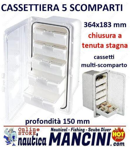 CASSETTIERA CON PORTELLO 5 CASSETTI MULTI SCOMPARTI OSCULATI BARCA SPORTELLO
