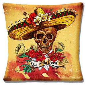 La imagen se está cargando Nuevo-Retro-Vintage-Mexicana-Sombrero -Dia-De-Muertos- bb6ee36e73b