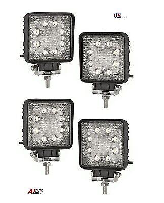 4 PCS WATERPROOF 24W 8 LED FLOOD BEEM WORK LIGHTS LAMP OFFROAD 4X4 ATV 12V//24V