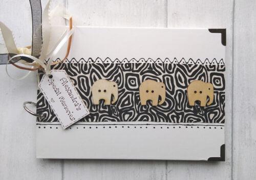 Personalizado elefantes tamaño A5 álbum De Fotos//libro De Memoria//álbum de recortes.