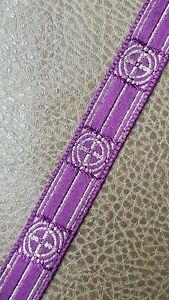 Vintage-Vestment-Sastreria-Galloon-Borde-Dorado-Cruz-en-Purpura-1-6cm-Ancho-7