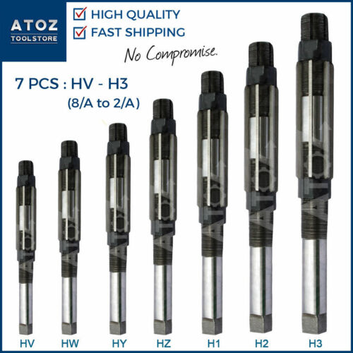 ATOZ 7x Set HV HW HZ HY H1 H2 H3 ADJUSTABLE HAND REAMER Cutting Tool