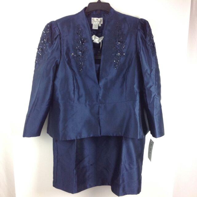 Gmi D4 Womens 3 Piece Skirt Jacket Blazer Formal Church Longsleeve
