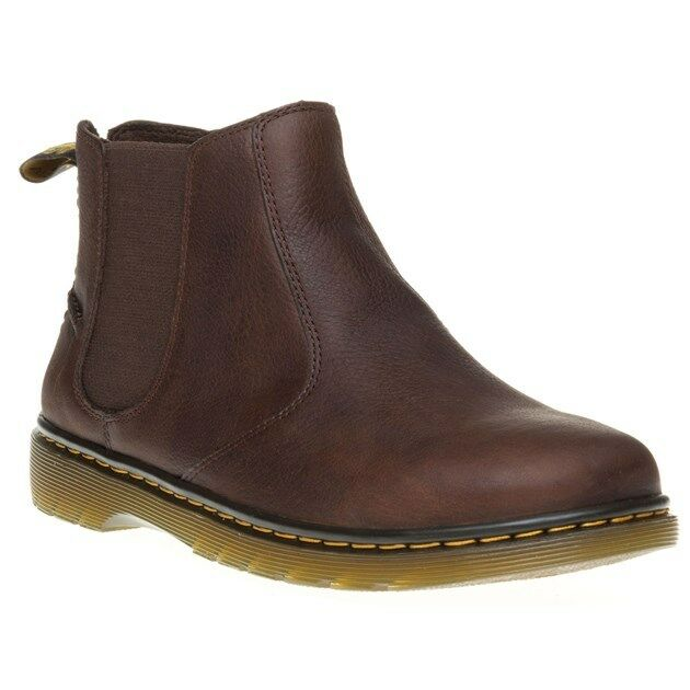 New Mens Dr. Martens Brown Brown Brown Lyme Leather Boots Chelsea Pull On 9fa219