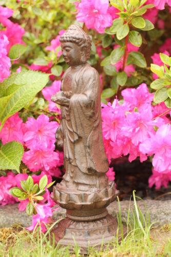 Gusseisen Buddha Metall Dekofigur Garten Figur braun