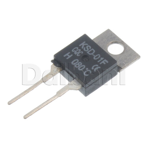 2pcs KSD-01F-H080C Cantherm Thermostat Temperature Switch 250V 2 Pin 80 C