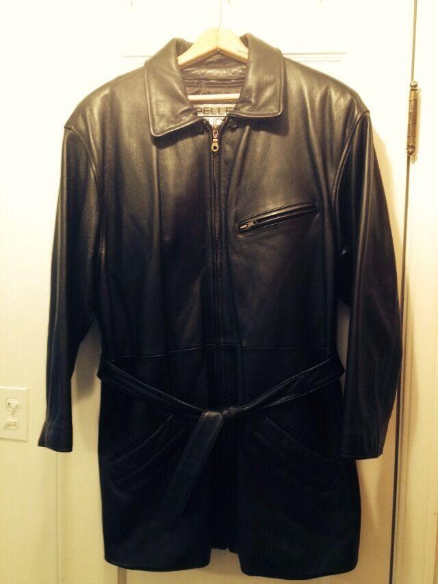 Wilson Pelle Studio Womens Leather Coat Thinsulate W Belt & Zippered Lining, L