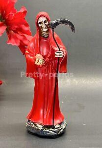Santa-Muerte-Rojo-5-034-Grim-Reaper-Death-Color-Red-Skull-Skeleton-Removable-Seth