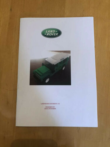 custom built lego Green Land Rover 110 INSTRUCTIONS ONLY