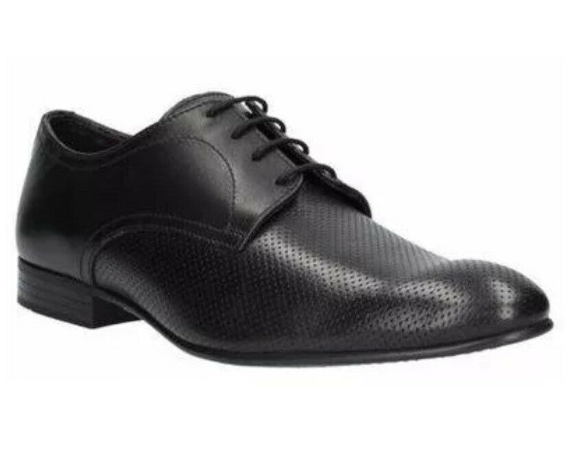 Clarks Mens Absit Ride Black Leather Lace up Smart Shoes UK Size 10.5 /EU 45