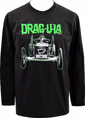 5XL MENS BLACK T-SHIRT HERMAN MUNSTER DRAGULA HORROR GOTH VINTAGE HOT ROD S