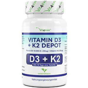 Vitamin D3 10.000 I.E. + Vitamin K2 200 mcg - 100 Tabletten