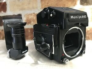 N-Nuovo-di-zecca-Mamiya-M645-1000s-Film-Fotocamera-Con-AE-Finder-a-prisma-piu-Giappone