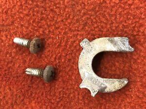 1970-74 CHALLENGER CUDA RIGHT DOOR HANDLE LOCK RETAINER 2 SCREWS OEM AAR  T/A