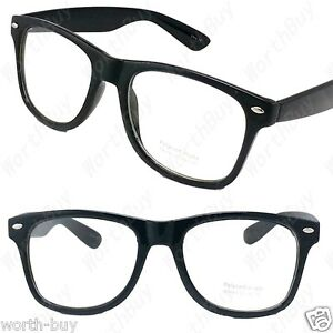 designer fashion glasses  Clear Lens Black Frame Cat Eye Glasses Designer Fashion Nerd Geek ...