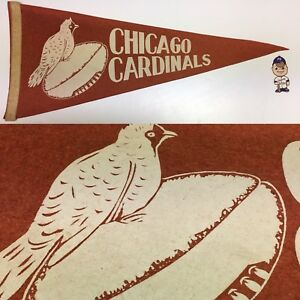 1940-039-s-Chicago-Cardinals-Illinois-NFL-Football-Full-Size-Pennant-11x28