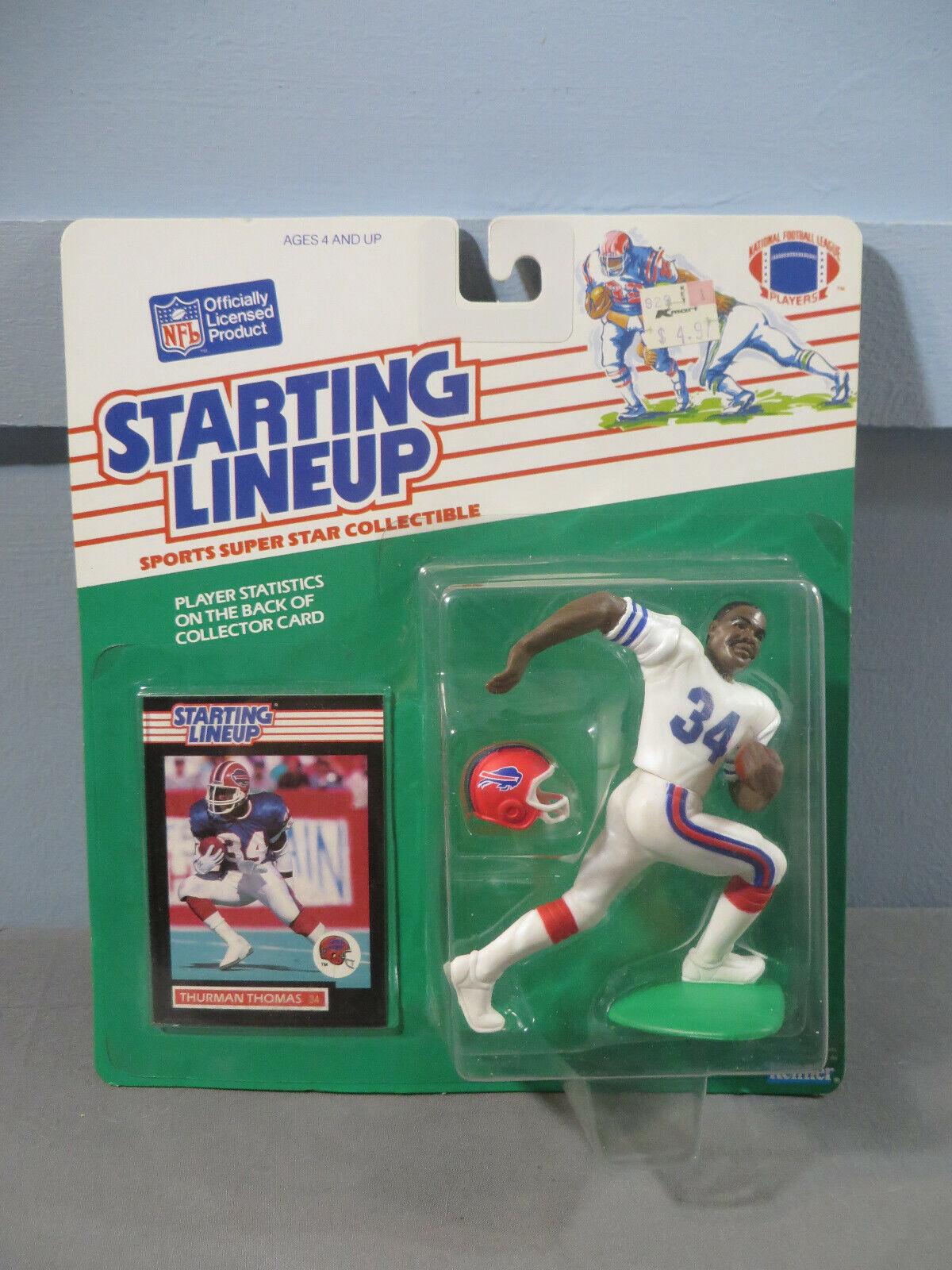 1989 Thuruomo Thomas Kenner estrellating Lineup Buffalo Bills NFL FOOTBtutti MOC Nuovo
