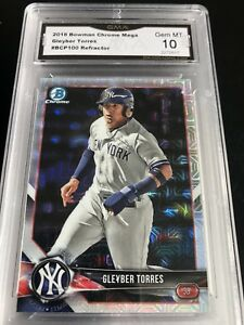 2018-bowman-Chrome-Mega-Refractor-Gleyber-Torres-Rookie-Graded-10-Mint