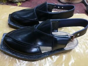 231a9ee9bd51 Norozee style Peshawar pure Sabar-leather Black Sandal from Pakistan ...