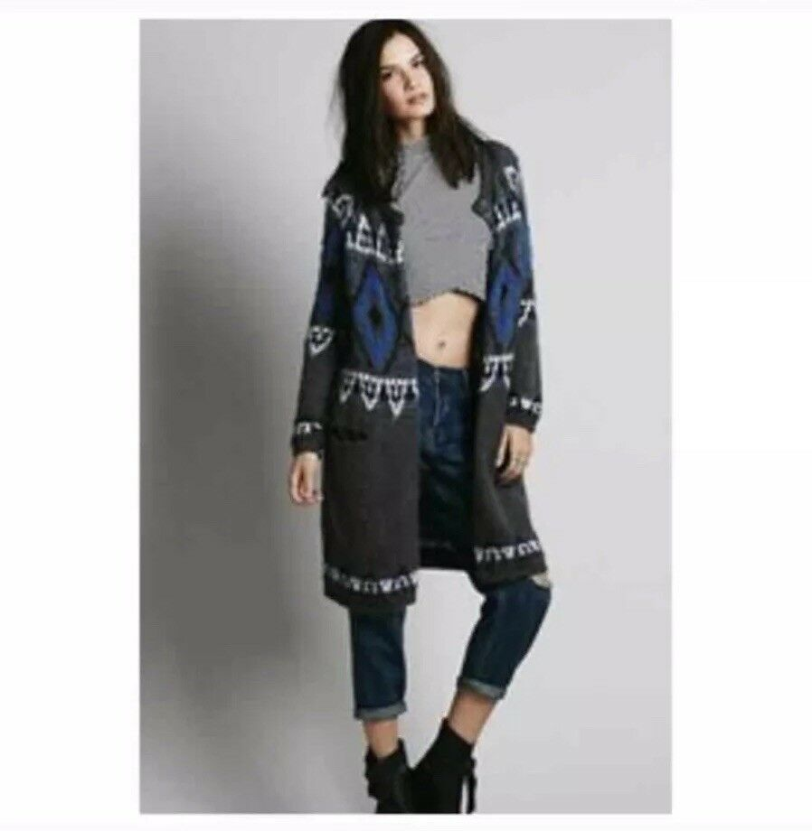 Free People Frosted Fair Isle Cardigan NWT XS