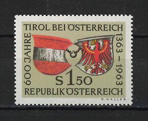 AUSTRIA-1963-MNH-SC-708-Arms-of-Austria-and-Tyrol