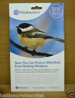 Window Alert 4 Modern Square Decals Protect Wild Birds Prevent Strikes Home Furnishings