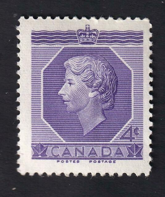 Canada 1953 QEII 4c Coronation, MNH sc#330