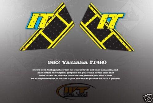 VINTAGE LIKE NOS 1983 YAMAHA IT490 TANK GRAPHICS