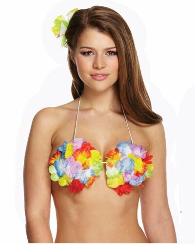 Ladies Fancy Leaf Hula Skirt With Flowers Womens Fancy Hawaiian Party Wear