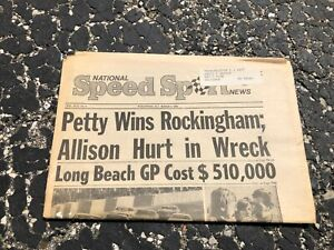 MARCH-3-1976-NATIONAL-SPEED-amp-SPORTS-NEWS-car-racing-newspaper-PETTY-wins