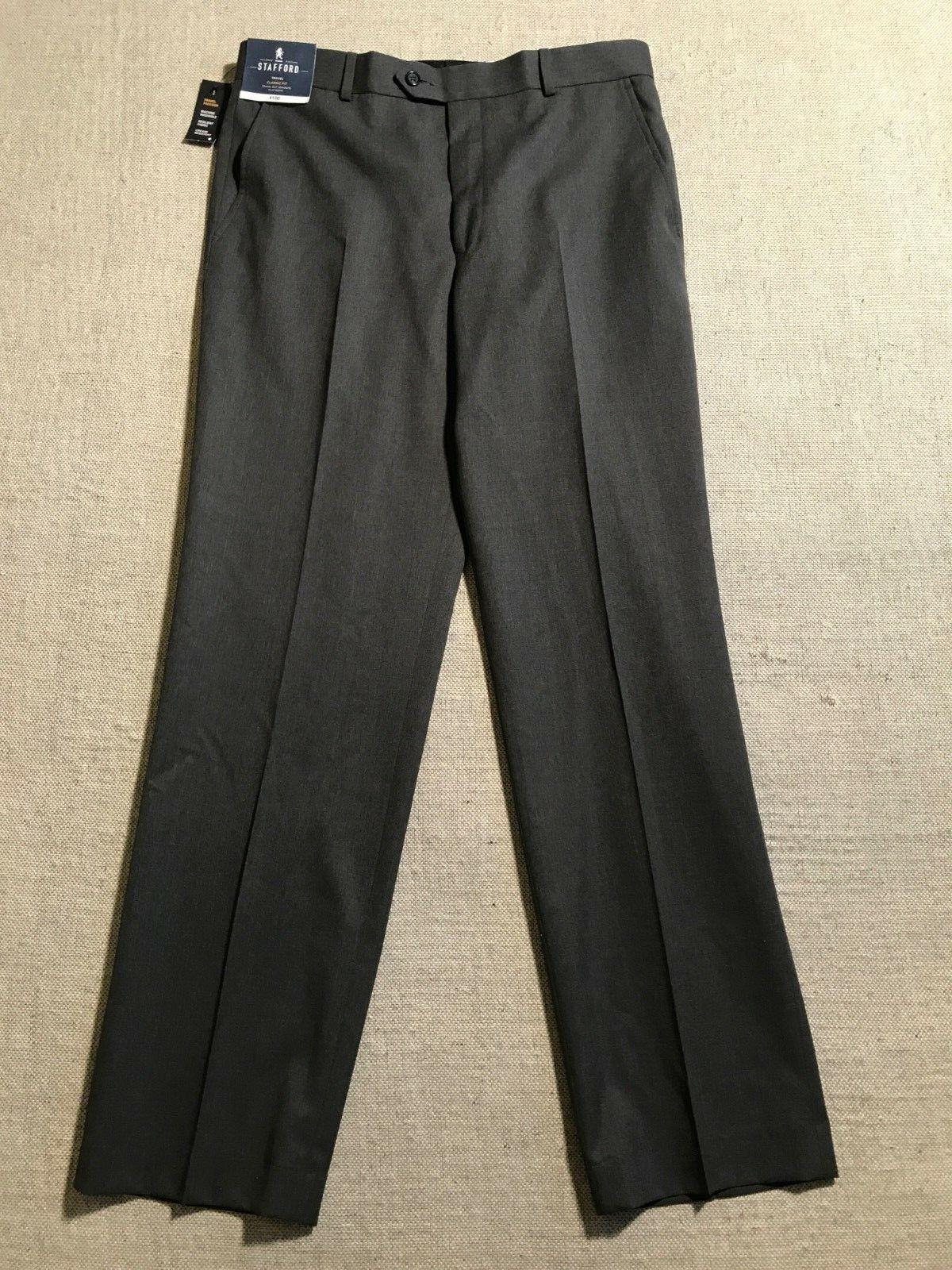Stafford Men's Tailored Culture Classic Fit Trouser Pants Sz 34x32  K2