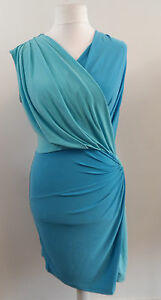 APART-jersey-dress-aqua-bleu-Blue-SIZE-14-BRAND-NEW-WITH-TAGS-BOX81-24-N
