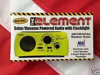 Element Solar Dynamo Radio & Flashlight Emergency Preparadness Equip Disaster