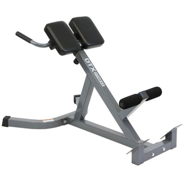 DTX Fitness Back Hyper Extension Exercise Bench Hyperextension Roman Chair Lower  sc 1 st  eBay & DTX Fitness Back HYPER Extension Exercise Bench Hyperextension Roman ...