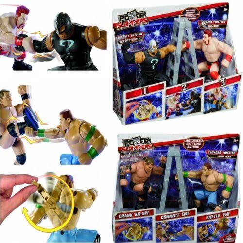 WWE Power Slammers 2 Pack Wrestling Ring Match Action Figure Jouet échelle Play Set