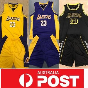 the best attitude c01da 8ef19 Details about Lebron James Lakers Kids Jerseys Set, With Top And Shorts