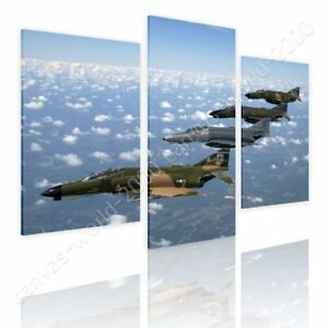 Air-Force-Fighter-Jet-by-Split-3-Panels-Ready-to-hang-canvas-3-Panels-Wall