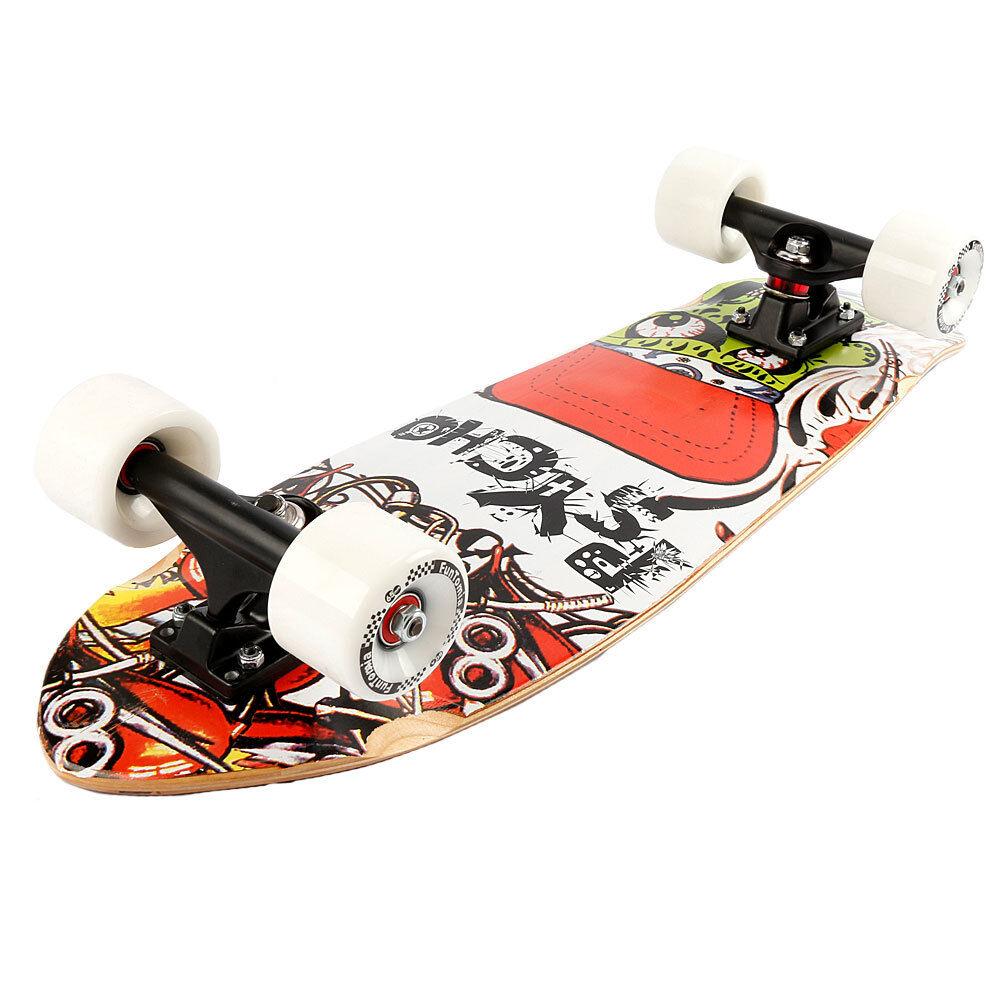 FunTomia FunTomia FunTomia LED Midi-Conseil Skateboard Ahorn et Bois Bambou ABEC-11 Retro Cruiser 0c7557