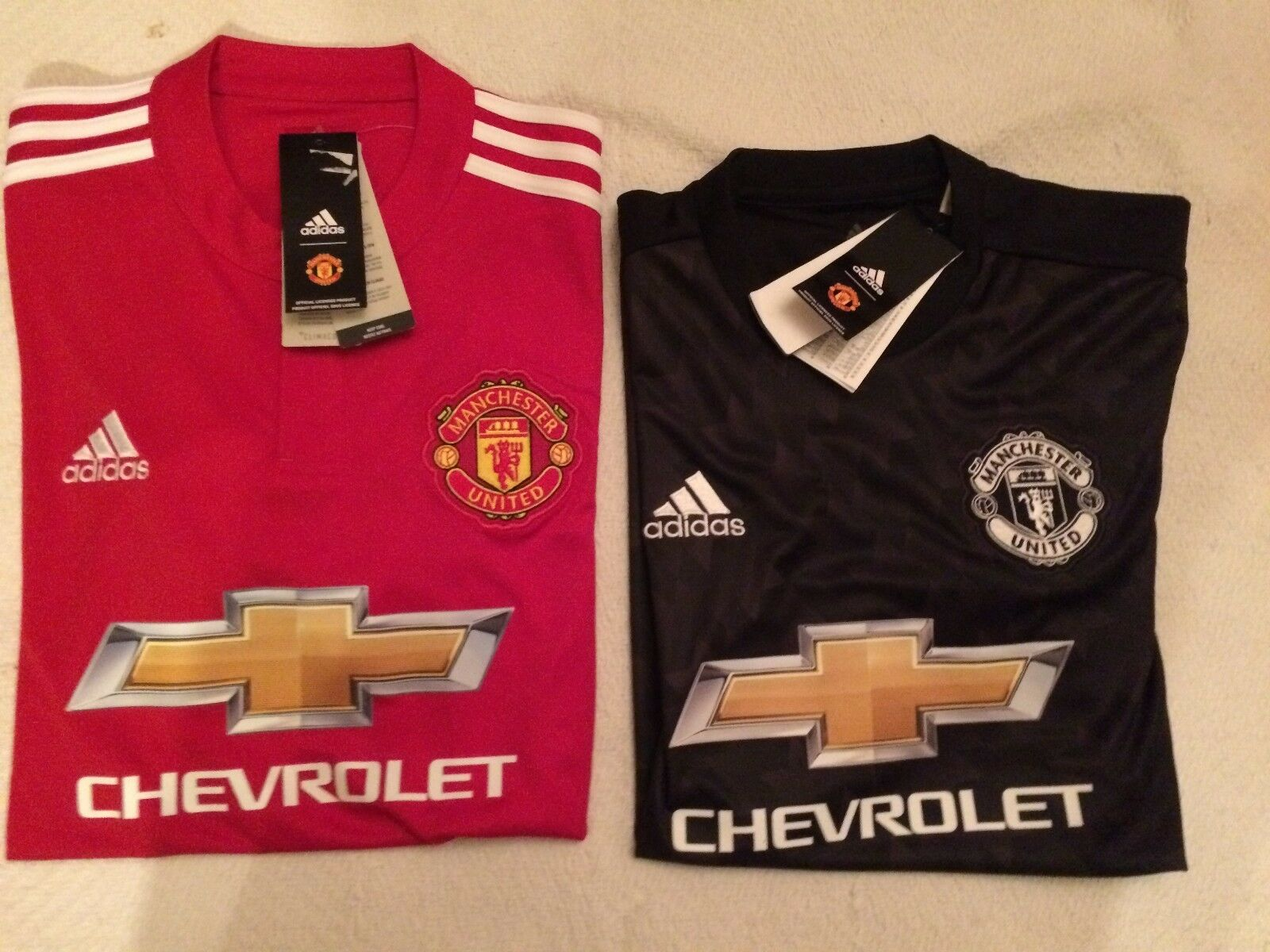 uomochester United 201718 Adidas Home e Away Jersey Diverse Taglie