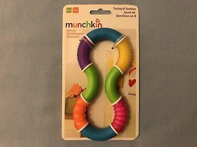 Munchkin Tortuosa 8 Teether, Multi-texture Interattivo Giocattolo Dentizione Anello, Nuovo Con Confezione-