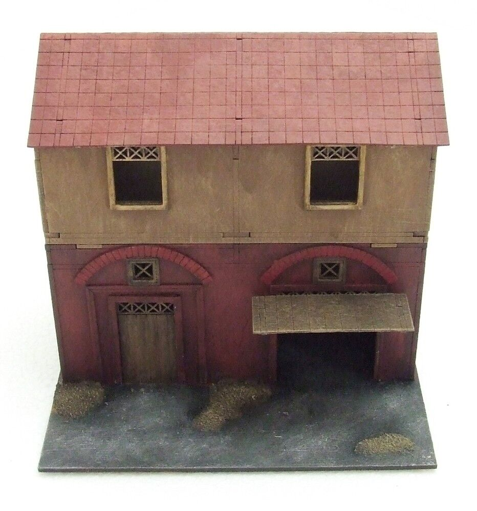SMALL HOUSE  (Streets + Gangs of Rome) - 28mm  - ASSEMBLED MDF & HIGHLY PAINTED