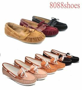 Women-039-s-Causal-Slip-On-Round-Toe-Boat-Moccasin-Flat-Sandal-Shoes-5-5-11-NEW