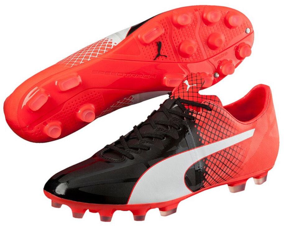 Puma Evospeed 1.5 botas de fútbol de hombre de césped artificial-Negro