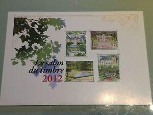 Variete-exeptionnelle-Bloc-feuillet-132-Salon-du-Timbre-2012-dorure-partielle