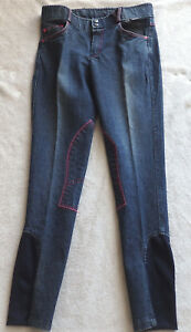 Kinder-Reithose-Jeans-blau-Kniebesatz-Horka-Gr-176-Stretchbeinabschluss-37