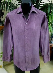 Giorgio-Armani-Black-Label-Shirt-S-15-75-33-Stunning-Purple