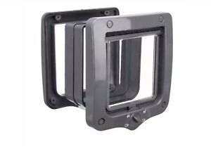 TRIXIE 4-Way Cat Flap Grey Door with 2 Tunnel Elements, Same Day Despatch BNIB