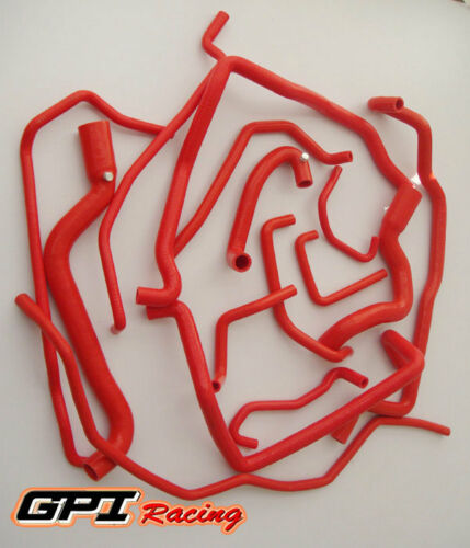15PCS silicone watercoolant hose Renault 5R5 GT turbo 19881991 1989 1990,RED