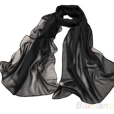 New Fashion Large Long Scarf Wraps Chiffon Feel Hip Neck Head Scarves Shawl BF2U