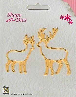 Stanzschablone Shape Dies ~ Christmas Deer Rentier Nellie Snellen SD035